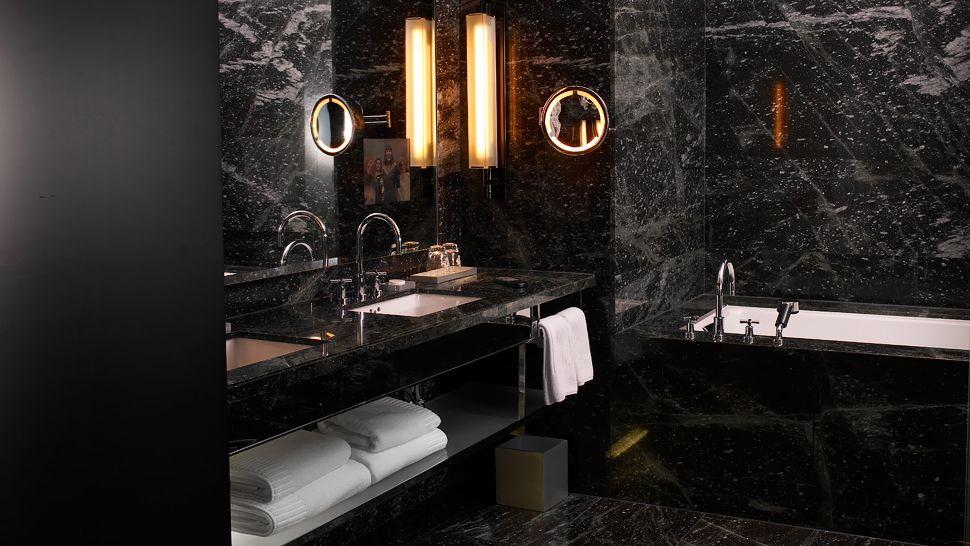 dark bathroom yabu pushelberg hotels so dishy