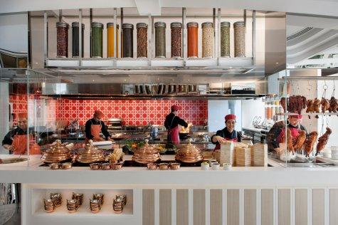 Conservatory Restaurant, Show Kitchen, Melbourne