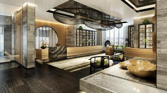 Spa reception, Raffles Shenzhen