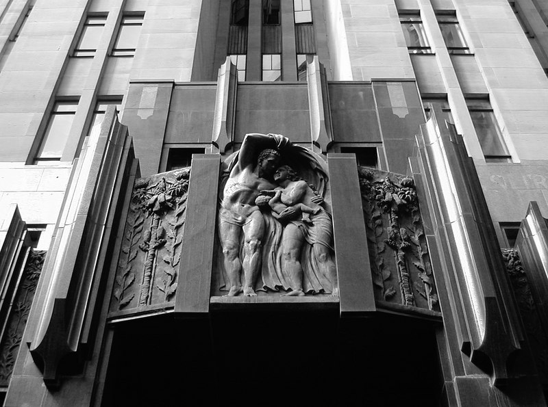 city mutual, sydney 1936-66 detail