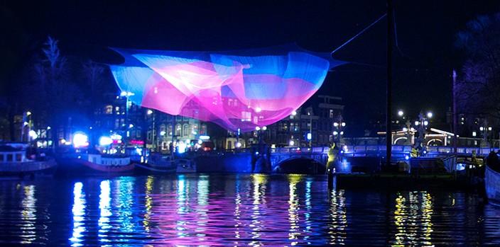 echelman-1.26 S-amsterdam Light Festival