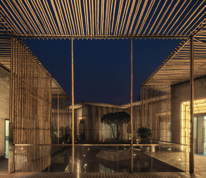 teahouse Bamboo Courtyard by HWCD